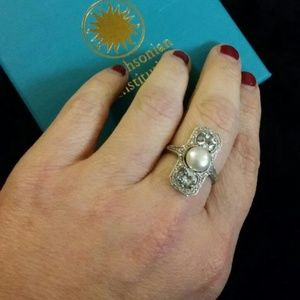 Jewelry - 1.18ct tw aquamarine and diamond ring .925